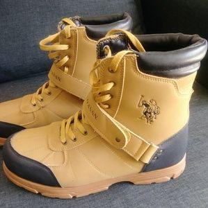 Kids Connor 6 Boot ,Black,4 U.S Big Kid Polo Assn